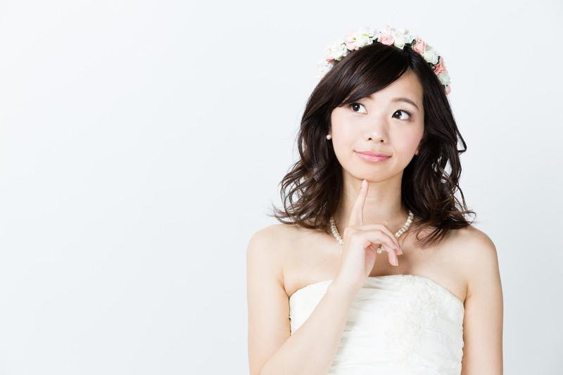 考える花嫁